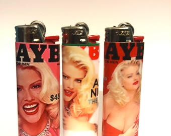 Anna Nicole Smith Playboy handmade customized BIC lighter