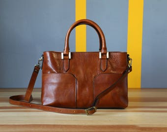 leather bag, handmade leather bag, handbag, woman leather bag, elegant leather bag, made in Italy handbag