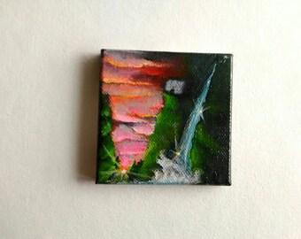 Landscape Mini Painting | Canvas Art | Mini Art | Tiny Art | Original Art | Decor | Modern Art | Painting | Small Art | Sunset Art | Mini