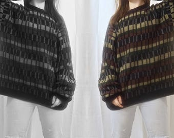 Old School Oversized Color Blocked Sweater