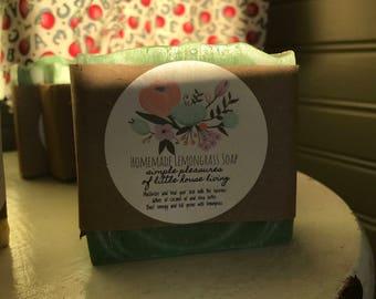 Homemade Lemongrass Soap
