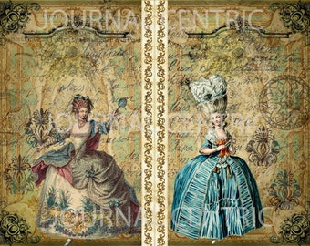 French Rococo Digital Journal Kit