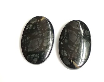 Picasso Jasper Oval Pair Cabochon,Size- 22x14 ,MM,Natural Picasso Jasper, AAA,Quality  Loose Gemstone, Smooth Cabochons.