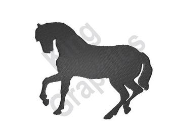Horse Silhouette - Machine Embroidery Design, Horse