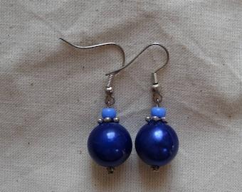 Electric blue earrings