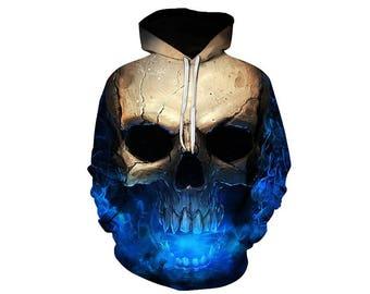 Skull Hoodie, Skull, Skull Hoodies, Skull Prints, Scalp Hoodie, Gothic, Skeleton, Skulls, Scalp, Hoodie, 3d Hoodie, 3d Hoodies - Style 1
