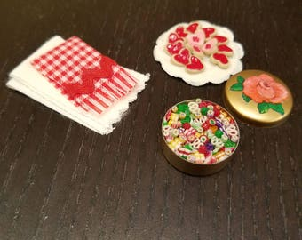 Valentines cookies and candy