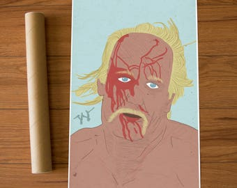 Hulk Hogan Wrestling WWF WCW 11 x 17 in. Art Poster Print