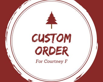 Custom Order - 1 Wooden Box, 1 Serving Tray
