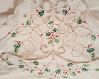 Christmas Tablecloth Etsy