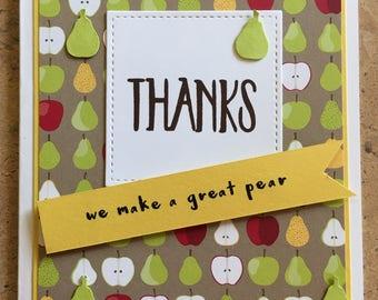 Thank you card, Handmade card