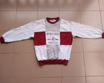 Vintage Polo Beverly Hills Polo Club..spell out big logo..embroided