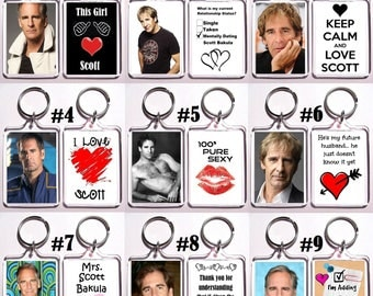 Scott Bakula Acrylic Keychain - Choose Your Favorite 9 Different Designs