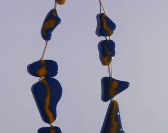 Resin necklace with gold chain