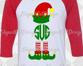 Elf Monogram SVG, PNG, DXF, elf svg, monogram svg, christmas svg, christmas png, elf png, christmas cut file, elf clipart, elf cut file