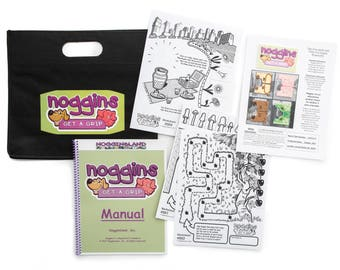 Noggin Starter Set - Fine Motor and Visual Motor Skill Development in Young Children through Play and Imagination - Stickers and Activities