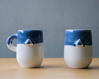 Triangle ceramic cup