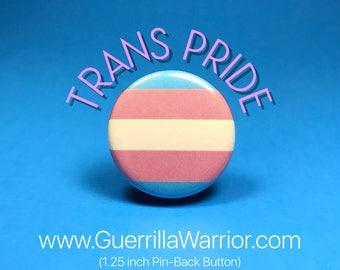Trans Pride Flag (1.25 inch pinback button)