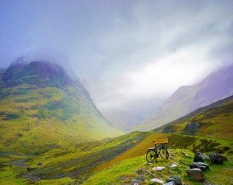 "Celtic Art Print ""Mists on Rannoch Moor"""