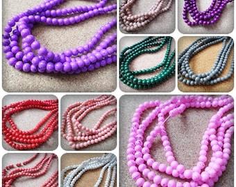 4mm Drawbench beads, Drawbench beads, Glass beads, Round beads, Round glass beads, 4mm beads, Jewellery making, Beads, Craft beads