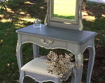 Romantic, vanity and stool