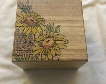 Wooden engraved box