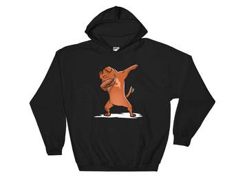 Cute Dabbing Dogue De Bordeaux Dog Hoodie Funny Dab Dance Gift
