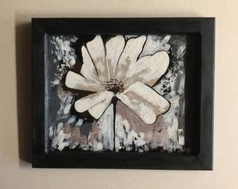 8x10 framed flower art