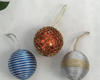 3 Beautiful Vintage Christmas Ornaments