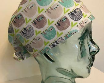 Scrub Hat - Sloths. Vet Scrub Hat. Vet Scrubs. Medical Scrub Hat. Surgical Scrub Hat. Theatre Hat. Surgery Hat. Theatre Cap