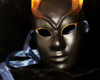 "Mask ""Volto infernal black"""