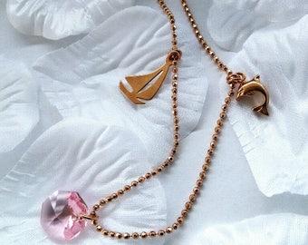 Fine and elegant necklace with Swarovski-Kristal_l_ *