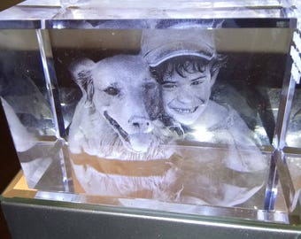 Boy And Dog, this is only an example of a 3D Crystal