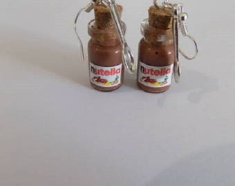 Chocolate glass vial earrings