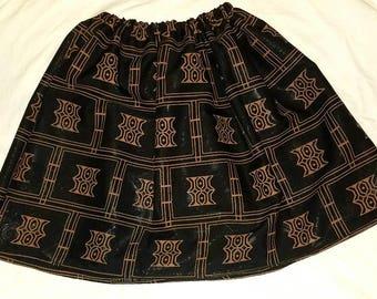 Black panther African skirt/kente skirt/plus size skirt/African clothing/Ankara skirt/Kente Fabric/women skirt/