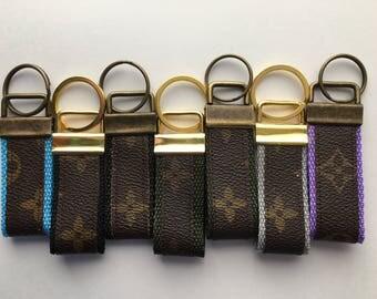 Handmade Monogram Louis Vuitton Repurposed Keychain