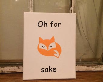 Fox Sake Canvas