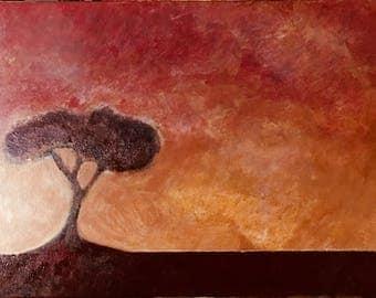 10x20 acrylic tree on canvas