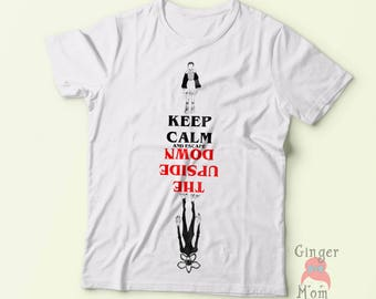 Women's Keep Calm and Escape the Upside down shirt