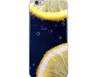Lemon Slices Clear Case for iPhone X, iPhone 8/8 Plus, iPhone 7/7 Plus, iPhone 6/6s, iPhone 6 Plus/6s Plus, iPhone 5/5s/SE