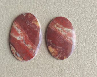 Natural Jasper 2 Piece Stones One Sided Hand Polish 74 Carat Gemstone, Wholesale Gemstone Cabochon, Beautiful Brecciated and Fancy Jasper.