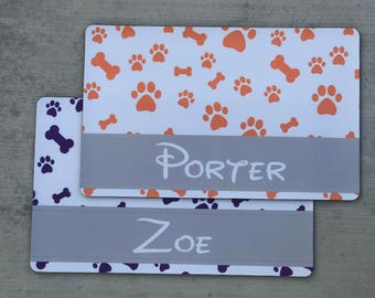 Personalized Pet Placemat - Dog Placemat, Cat Placemat, Customized Placemat, Pet Food Mat, Rubber Placemat
