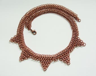 Selene handmade copper necklace