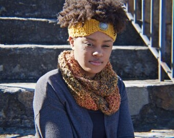 Gold Headband and Harvest Scarf