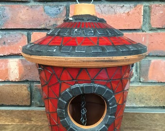 Mosaic lantern / bird feeder