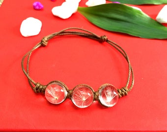 Dandelion resin bracelet REC_B02