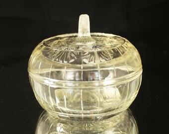 Beige Sugar Bowl, Retro Vintage Sugar Bowls, Vintage Sugar Jar, Vintage Sugar Pot, Sugar Glass Bowl, 1970s Glassware, Sugar Bowl Vintage