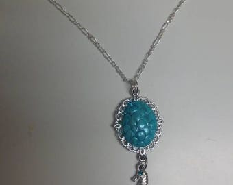 Mermaid Scale Charm Necklace