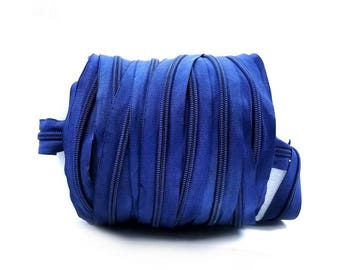 40 Yards of Zipper Blue