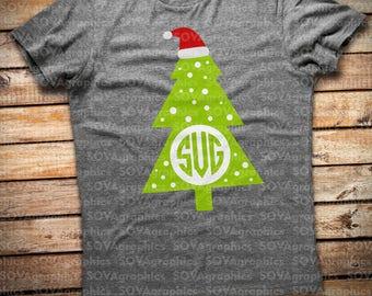 Christmas tree svg, Grinch svg, Grinch tree svg, Monogram tree svg, monogram, dxf, eps, png, Winter svg, cutting file, Holiday svg